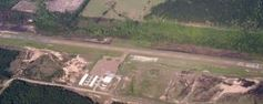 Overhead view of Leesville City Airport.