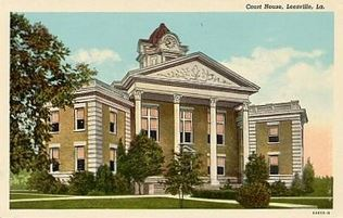 Painting of the Leesville Courthouse.